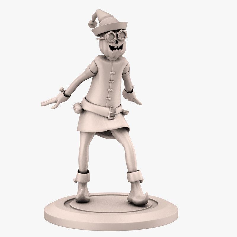 3D model gnome print elf