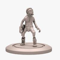 sci-fi print man 3D model