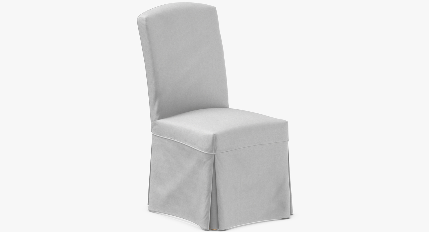 3D transitional dining chair model