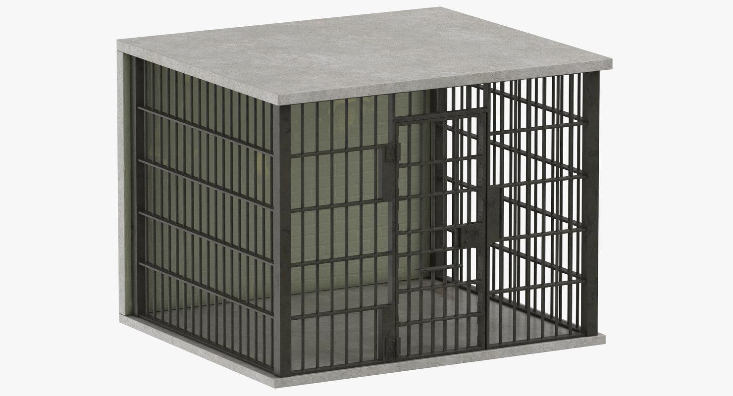 jail cell 3D model