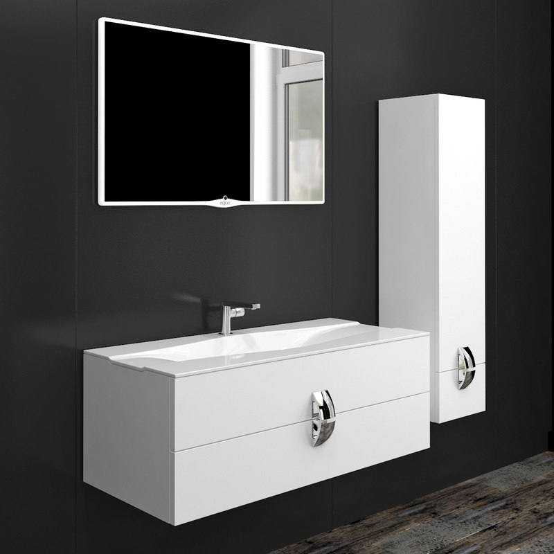 3D model furniture set bathroom miro