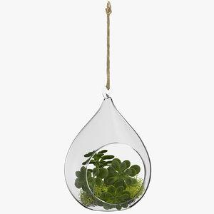 3D hanging terrarium 01