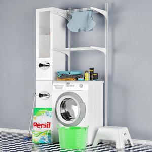 wash machines bosch maxx 3D model