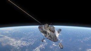 3D pioneer 10 satellite