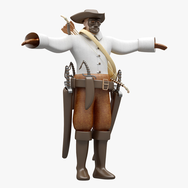pirate rigged highpoly 3D model