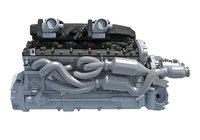 3D model v12 engine