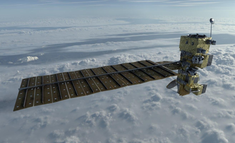 aqua satellite 3D model