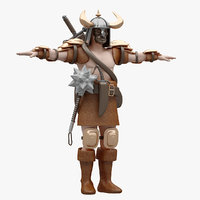 rigged warrior model
