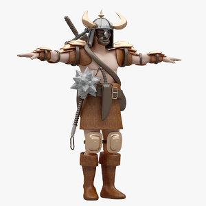 rigged warrior model