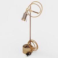 3D brass table lamp patron