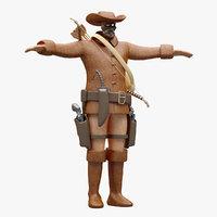 3D cowboy cloth model