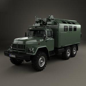 3D model zil 131 box