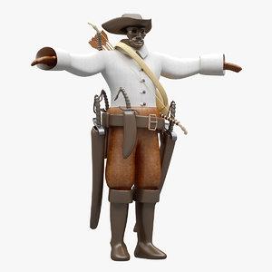 cloth pirate 3D