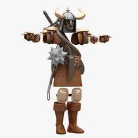 3D cloth warrior