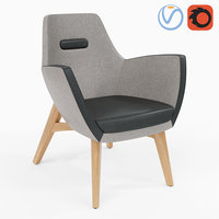 armchair umm wood 3D model