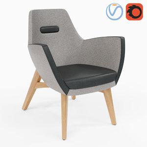 armchair umm wood 3D model