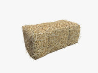 Low Poly Hay bale with LOD