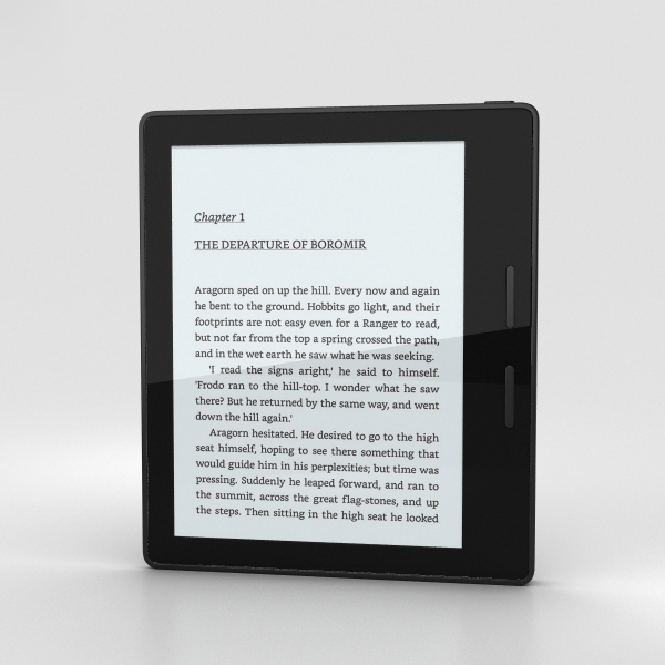 3D amazon kindle oasis model