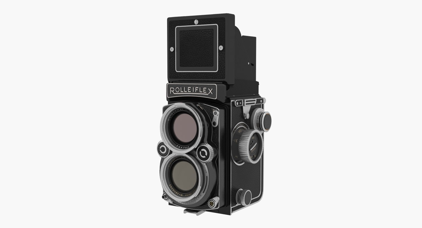 3D rolleiflex tlr film camera model