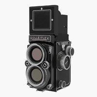 3D rolleiflex tlr film camera model