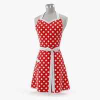 3D retro kitchen apron mannequin