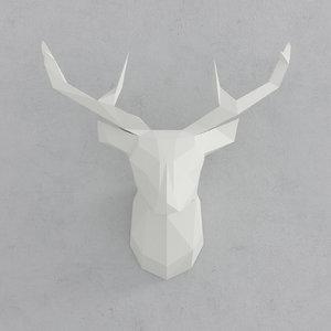 deer decoration 3D model