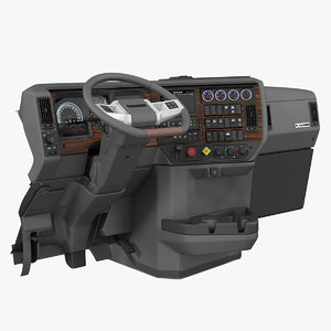 mack truck dashboard 3D model