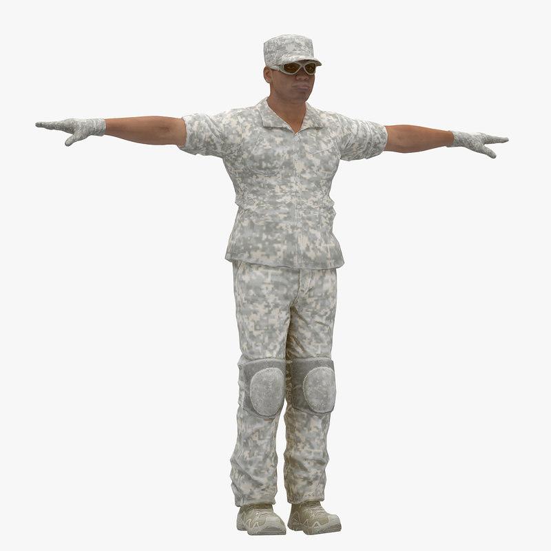 3D t-pose male model