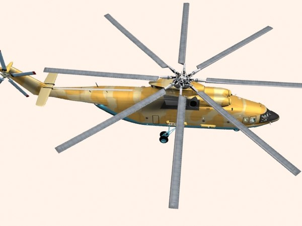 helicopter mi-26 t2 3D model