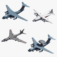 3D chinese support aircraft model