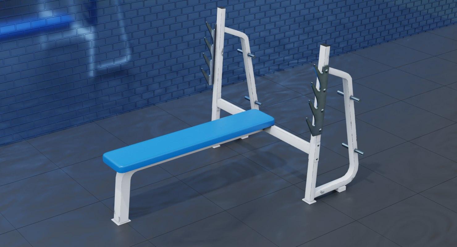 gym flat machine 3D