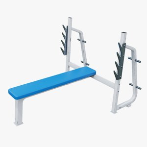 gym flat machine 3D