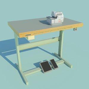 3D model industrial overlock