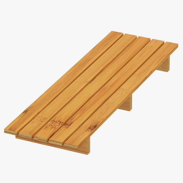 bamboo tub shelf 3D model