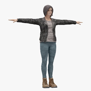 3D 03 rigged t-pose