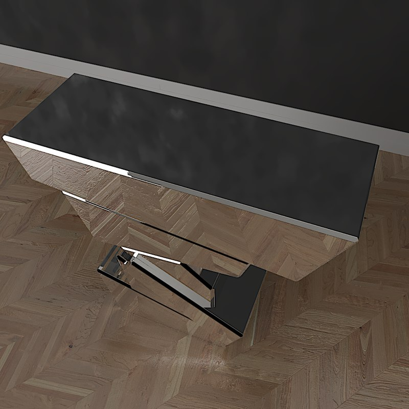 3D eichholtz console table model