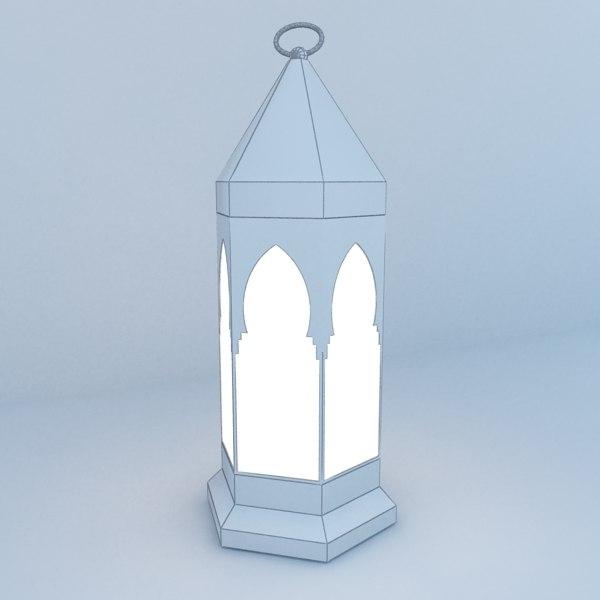 moroccan lantern 3D model