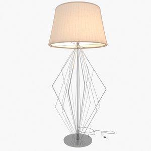 3D model floor lamp design
