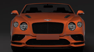 3D bentley continental supersport convertible model
