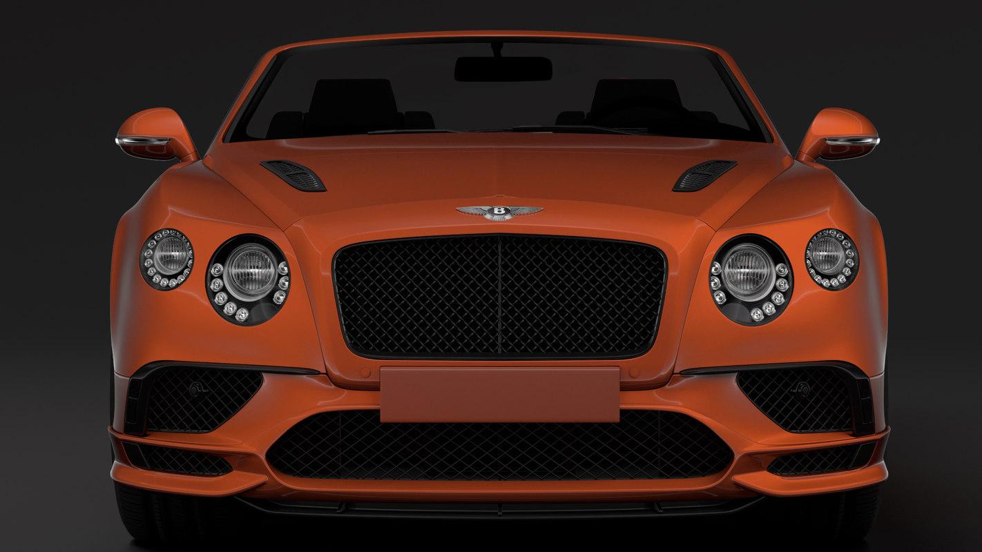 3D bentley continental supersport convertible model