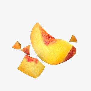 peach slice 3D