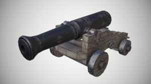 3D cannon games modeled