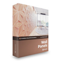 CGAxis Models Volume 104 - Wall Panels