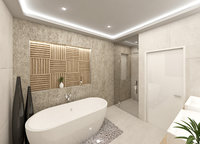 3D scene modern bathroom interior