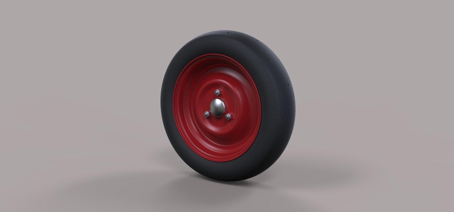 3D model wheel scooter
