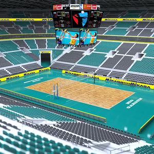 3D volleyball stadium volley model