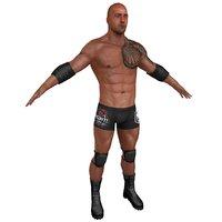 3D wrestler games model