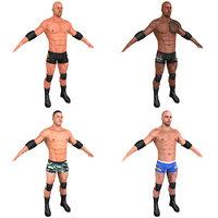 3D pack wrestler model