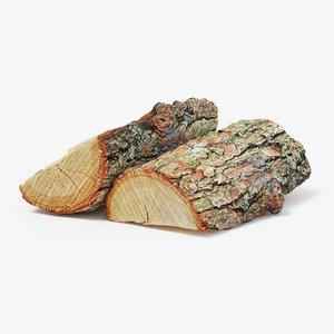 wood logs 3D model