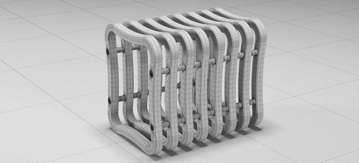 3D modern stool storage 2018